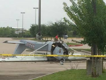 Small plane crashes in Woodforest Stadium parking lot