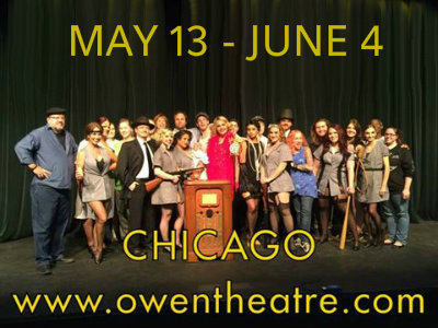 ''Chicago'' at the Owen Theatre May 13 - June 4