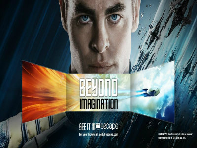 Movie Review: ''Star Trek Beyond'' on Barco Escape multi-screen takes moviegoers where they've never gone before