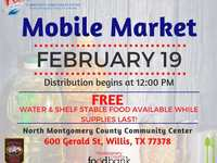 Community Assistance Center Open Mobile Market on February 19, 2021